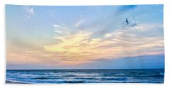 Paraclete At Sunrise  Beach Sheet by Mary Ward