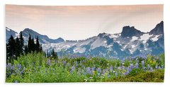 Beach Towel featuring the photograph Paradise Meadows And The Tatoosh Range by Jeff Goulden
