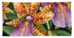 Paradise Orchid Beach Towel by Jane Girardot
