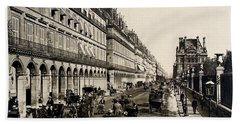 Paris 1900 Rue De Rivoli Beach Towel