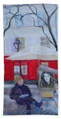 Paris Artist, 2010 Oil On Canvas Beach Towel
