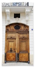 Paris Door - No. 30 - Paris Photography Beach Sheet