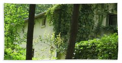Paris - Green House Beach Towel by HEVi FineArt