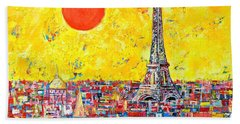 Paris In Sunlight Beach Sheet by Ana Maria Edulescu