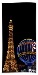 Paris In Vegas Beach Towel