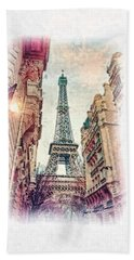 Paris Mon Amour Beach Towel by Mo T