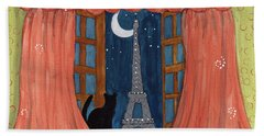 Paris Moonlight Beach Towel