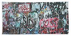 Beach Towel featuring the photograph Paris Mountain Graffiti by Kathy Barney