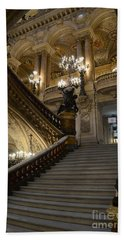 Paris Opera Garnier Grand Staircase - Paris Opera House Architecture Grand Staircase Fine Art Beach Sheet