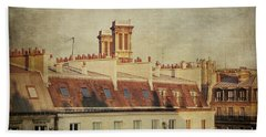 Paris Rooftops Beach Sheet