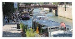 Paris - Seine Scene Beach Sheet