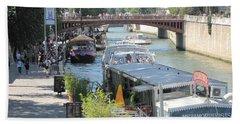 Paris - Seine Scene Beach Towel by HEVi FineArt