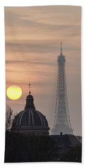 Paris Sunset I Beach Towel