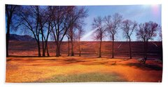 Park In Mcgill Near Ely Nv In The Evening Hours Beach Towel