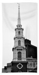 Park Street Church Boston Black And White Beach Sheet