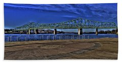 Beach Towel featuring the photograph Parkersburg Point Park by Jonny D