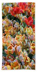 Parrot Tulips Beach Towel by Tanya  Searcy
