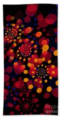 Party Time Abstract Painting Beach Towel by Claudia Ellis