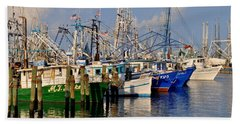 Pass Christian Harbor Beach Towel