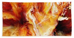 Passion - Abstract Art Beach Towel by Jaison Cianelli