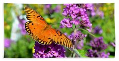 Beach Towel featuring the photograph Passion Butterfly by Deena Stoddard