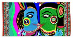 Passionate Kiss Kamasutra Khajuraho India Cave Style Art Navinjoshi Rights Managed Images Graphic De Beach Towel