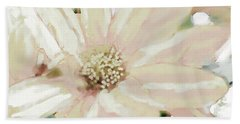 Pastel Daisy Photoart Beach Towel by Debbie Portwood
