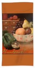 Abundance 2 - Pastel Art - Still Life Beach Towel