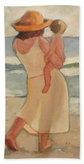 Pastel Morning Beach Pastel Morning Mother And Baby Beach Sheet
