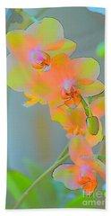 Pastel Orchids Beach Towel