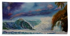 Beach Towel featuring the painting Pastel Sunset by Jenny Lee