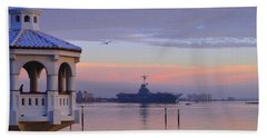 Pastel Uss Lexington Beach Towel