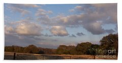 Pasture Clouds Beach Towel