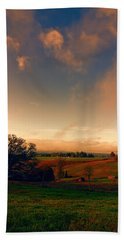 Pastureland Beach Towel by Don Schwartz