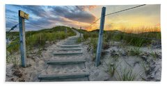 Path Over The Dunes Beach Towel by Sebastian Musial