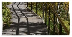 Path Shadow Beach Towel