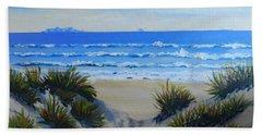 Path Through The Sand Dunes Beach Sheet by Pamela  Meredith