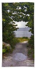 Path Through The Sea Grapes Beach Towel