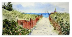 Beach Sheet featuring the painting Path To East Beach-watch Hill Ri by Joan Hartenstein