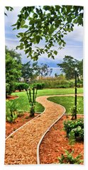Garden Path To Wild Marsh Beach Towel