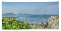 Beach Towel featuring the photograph Path To The Cove by Jane Luxton