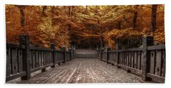 Path To The Wild Wood Beach Towel by Scott Norris