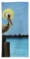 Patiently Fishing Beach Towel