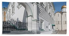 Patriarch Palace And Church Of The Beach Towel by Panoramic Images