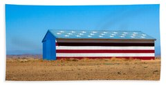 Patriotic Barn Beach Sheet