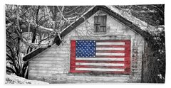 Patriotic American Shed Beach Towel