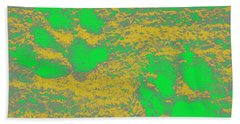 Paw Prints In Yellow And Lime Beach Towel