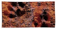 Paw Prints Rust Over Time Beach Towel