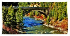 Payette River Scenic Byway Beach Towel by Benjamin Yeager