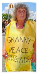 Beach Towel featuring the photograph Peace Granny by Ed Weidman